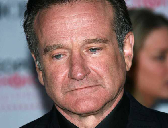 robin williams was found hanging from a necktie tied to a doorknob