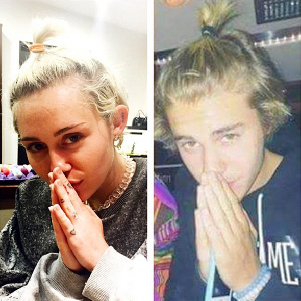 miley cyrus and justin bieber are said to be reptilians pushing the new world order agenda