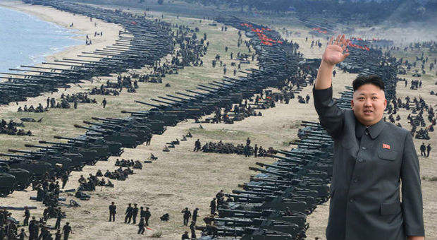 North Korea Release Shocking Images Of Tanks Lined Up For War With West