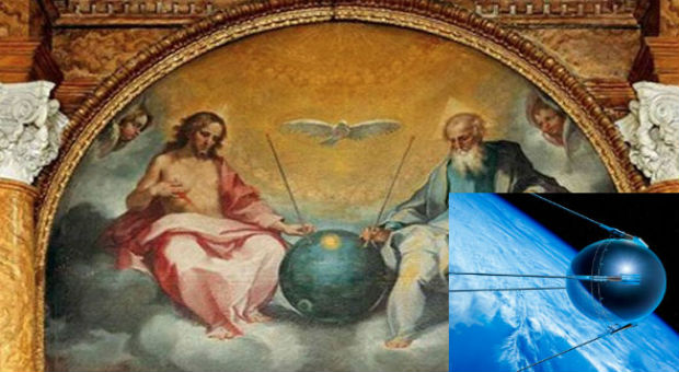 400-Year Old Painting Reveals Jesus Sitting Next To A Satellite