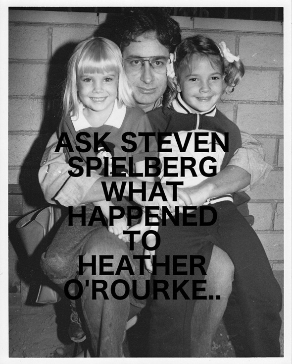 there are claims steve spielberg has information on heather o rourke s death