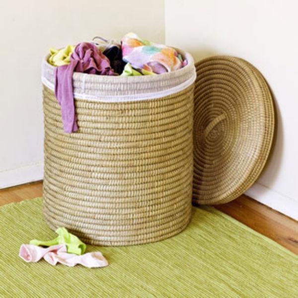 Child wicker laundry hamper fb