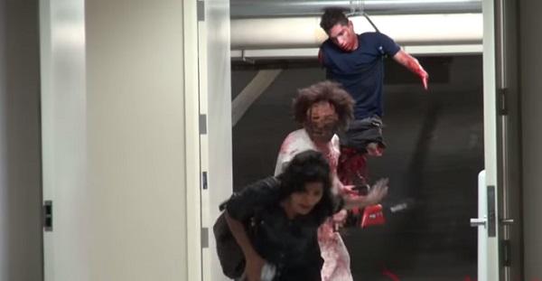 realistically gory chainsaw massacre prank