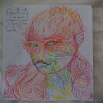 Girl Draws Self Portraits On LSD Trip, Here's What Happened...