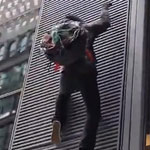 Anti-Capitalist Agitator Tries to Deface NYC Building, Instantly Regrets it - WATCH