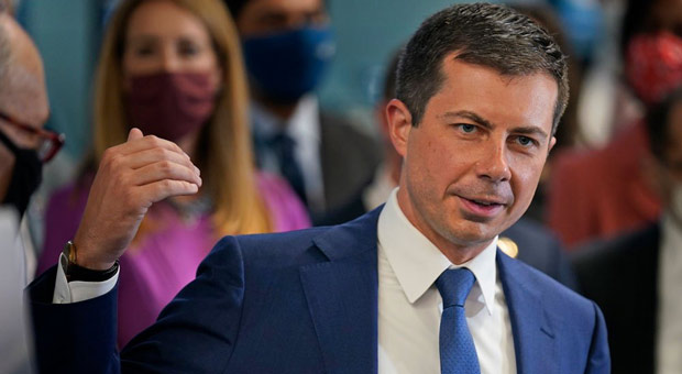 Buttigieg Claims Supply Chain Crisis Because of Biden's 'Success' with Economy
