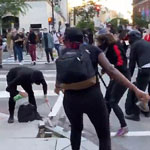news thumbnail for DC Protesters Tackle Suspected Antifa Member  Hand Him to Cops   WATCH