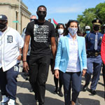 thumbnail for Democrat Gov  Whitmer Joins Floyd March Weeks After Condemning Lockdown Protestors