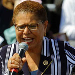 Democrat Karen Bass Blames Trump For 154,000 Deaths: He 'Really Doesn't Care'