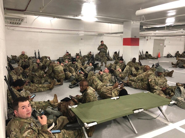 the living conditions the national guard troops were enduring emerged on thursday night