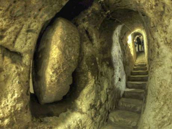 the underground city was found in the 45 hectares of the total 75 hectare area that is within the transformation project