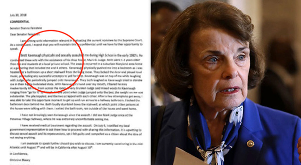 feinstein  most probably her staff  leaked the letter to the media last week