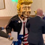 news thumbnail for Golden Statue of Donald Trump Appears at CPAC   WATCH
