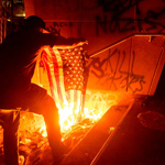 Portland Protesters Torch Bibles, American Flags Outside Federal Courthouse