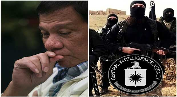 rodrigo duterte publically accused the cia of creating and supporting terrorist group isis