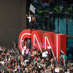 Protestors Turn on CNN As Network's Atlanta Headquarters is Attacked
