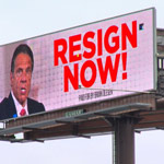 news thumbnail for  Resign Now   Billboard Appears Amid Andrew Cuomo s Sexual Harassment Scandal