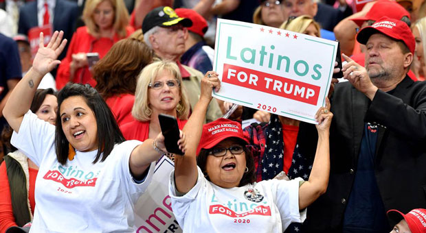 latino support for trump in california is now almost as high as support among white voters