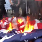 'Woke' Mob Burns American Flag, Chants 'America Was Never Great' Outside White House