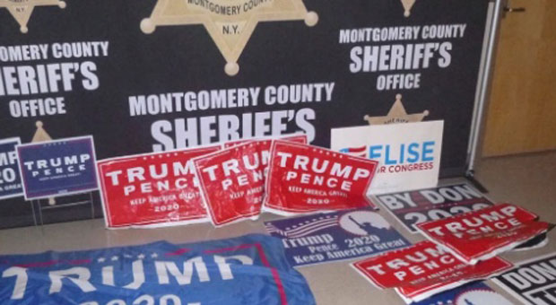 Woman Arrested for Driving Children Around Upstate New York to Rip Trump Signs Down