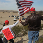 American Patriots Form 'Human Wall' Along Border as Migrant Caravan Threat Looms