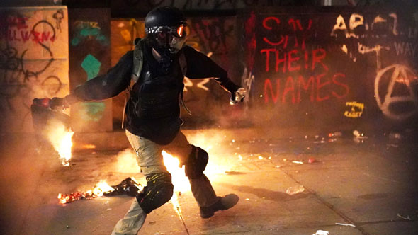 american cities have been torn apart by radical left violence this year