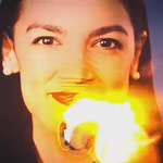 AOC Explodes Over GOP Anti-Socialism Ad Showing Her Face on Fire
