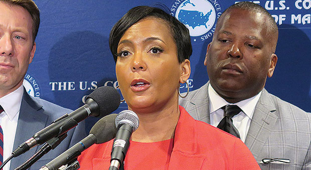 mayor keisha lance bottoms is trying to blame president trump for the child s murder in her city