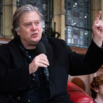 news thumbnail for Steve Bannon Smuggled Into Oxford Union As Angry Liberals Protests Outside