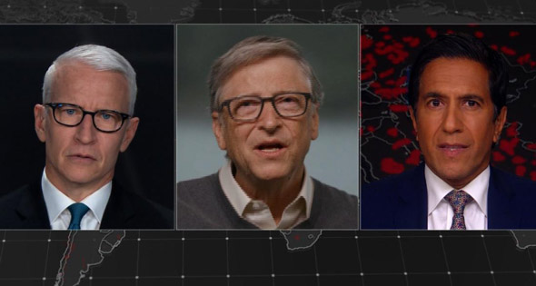 bill gates made the remarks during an interview with cnn s anderson cooper