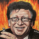 Protesters Demand Bill Gates' Arrest as Huge Anti-Gates Mural Emerges in Melbourne