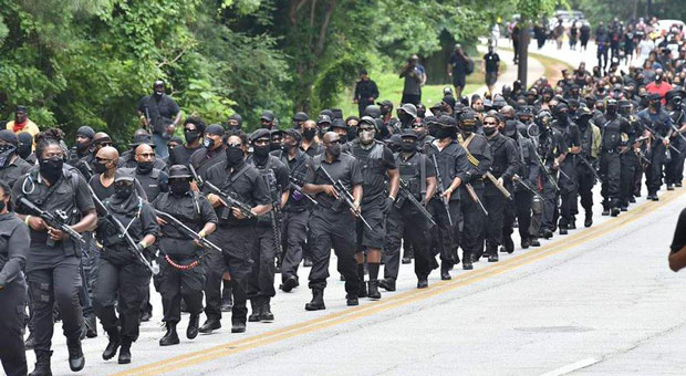 the radical nfac militia will march on downtown louisville on saturday