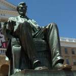 news thumbnail for BLM Protesters Demand Abraham Lincoln Statue Torn Down  Claiming  White Supremacy