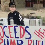 news thumbnail for Leftist Thugs Call Texas Boy  Hitler  for Running Border Wall Fundraising Stand