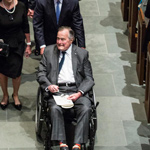 Former President George H.W. Bush Hospitalised After Wife's Funeral