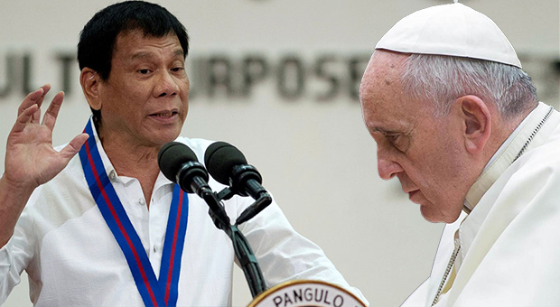 Filippinerna president Rodrigo Duterte lanserar en svidande attack på den katolska kyrkan