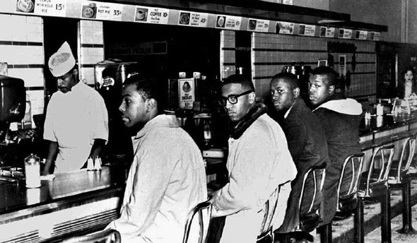 clarence henderson  far right  participated in the 1960 greensboro sit in