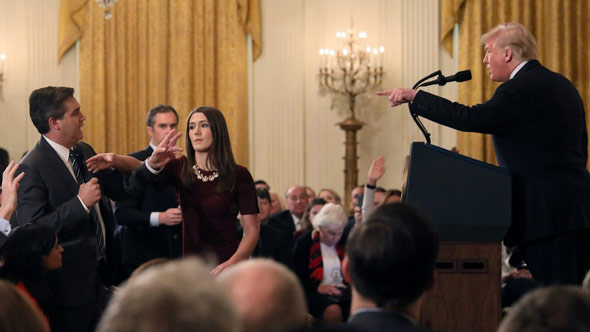 president trump made minced meat out of jim acosta