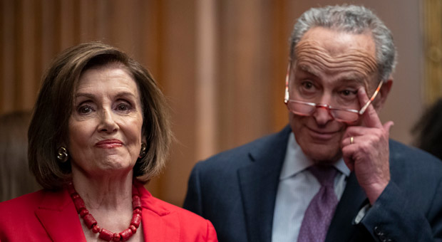 both nancy pelosi and chuck schumer forgot george floyd s name while demanding he must be remembered