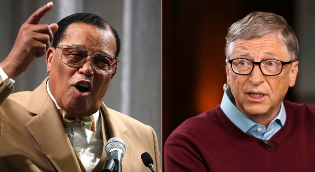 louis farrakhan has accused bill gates of plotting to  depopulate the earth
