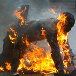 Father Sets Himself on Fire to Protest Pedophile Elite