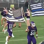 High School Bans Football Team's Pro-Police Flag After Leftists Deem it 'Racist'