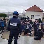 Macron's Police State: Clip of French Protesters Lined Up Like Cattle Goes Viral
