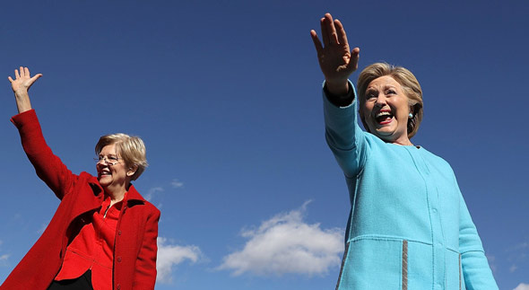 Hillary Clinton Advising Elizabeth Warren on How to 'Beat Trump' in 2020