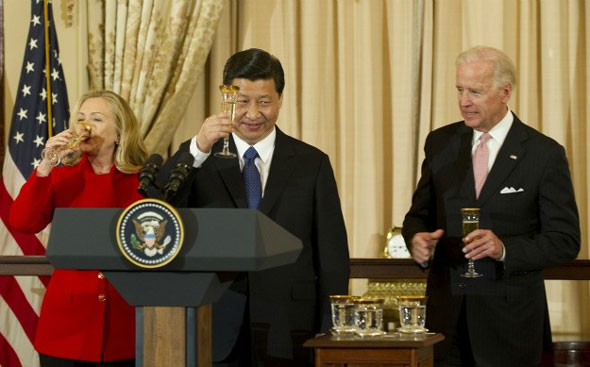 while serving as vice president  joe biden was obama s point man on china