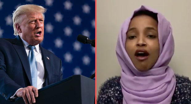 ilhan omar attacked president trump s patriotism during an interview on mcnbc