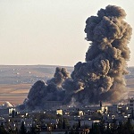 US Led  Airstrikes Hit ISIS Leaders In Iraq Killing 50
