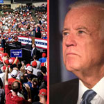 Joe Biden Event Draws 30 People While Trump Packs Out Rally in New Hampshire