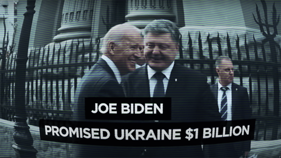 joe biden flew to ukraine to meet with government officials shortly after the email