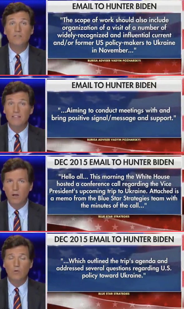 the latest email batch was revealed by tucker carlson